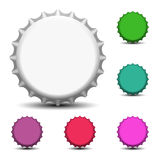 Colorful bottle caps Stock Photos