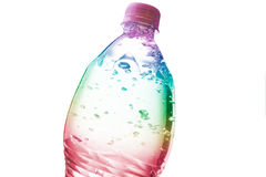 Colorful bottle of water Royalty Free Stock Image