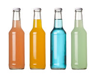Colorful bottled drinks Stock Photos