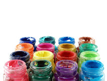 colorful of bottles poster color Stock Photography