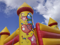 Colorful bouncy castle Royalty Free Stock Image