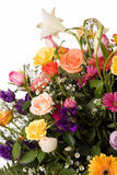 Colorful bouquet. Big colorful bouquet over white Stock Images