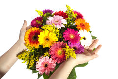 Colorful bouquet stock photos