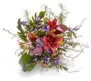 Colorful Bouquet with Expressively Arranged Flowers Royalty Free Stock Images