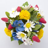 Colorful bouquet of flowers and berries on a white Stock Photography