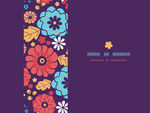 Colorful bouquet flowers horizontal seamless. Vector colorful bouquet flowers horizontal seamless pattern background Stock Photos