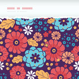 Colorful bouquet flowers horizontal torn seamless. Vector colorful bouquet flowers horizontal torn seamless pattern background Stock Photo