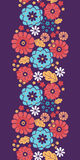 Colorful bouquet flowers vertical seamless pattern Stock Photography