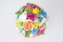 Colorful bouquet of flowers on a white Stock Photography