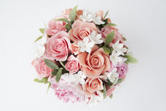 Colorful bouquet of flowers on a white Stock Images