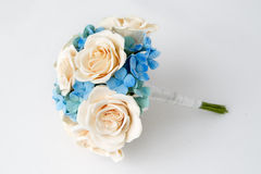 Colorful bouquet of flowers on a white Stock Image