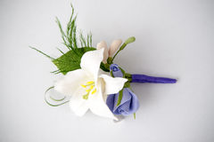 Colorful bouquet of flowers on a white background Stock Photography