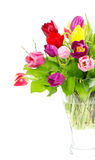 Colorful bouquet of fresh tulips Stock Image