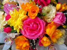 Colorful Bouquet From Different Flowers Stock Photography