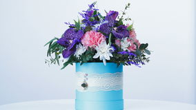 Colorful bouquet, giving a wonderful fragrance of happiness stock video footage