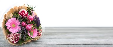 Colorful bouquet for mothers day stock photo