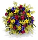 Colorful Bouquet with Roses Stock Photography