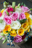 Colorful bouquet of roses Royalty Free Stock Images