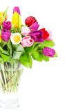Colorful bouquet of tulip flowers Stock Photo