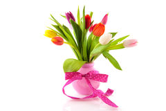 Colorful bouquet tulips Royalty Free Stock Images