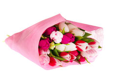 Colorful bouquet tulips Stock Images