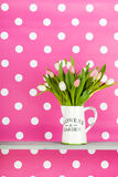 Colorful bouquet tulips Royalty Free Stock Photography