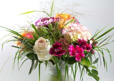 Colorful bouquet in the vase. A graceful, colorful bouquet adorns a vase Stock Photos