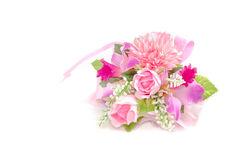 Colorful Bouquet on white background Stock Photos