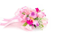 Colorful Bouquet on white background Stock Images