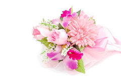 Colorful Bouquet on white background Royalty Free Stock Image