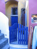 Colorful boutique Oia Stock Image