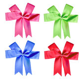 Colorful bow collection Royalty Free Stock Images