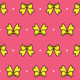 Colorful Bow Pattern Royalty Free Stock Photos