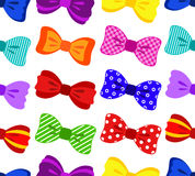 Colorful bow seamless pattern Stock Photos
