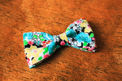 Colorful bow tie. On great background Stock Images