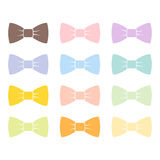 Colorful bow tie isolated bowtie accessory elegant knot celebration suit vector illustration. Stock Images