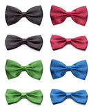 Colorful bow ties set. Royalty Free Stock Image
