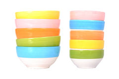 Colorful bowl isolated Royalty Free Stock Photos