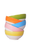 Colorful bowl isolated Royalty Free Stock Image