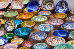 Free Colorful Bowl Souvenirs In A Shop In Morocco Royalty Free Stock Photos - 84868868