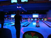 Colorful bowling alley Stock Image