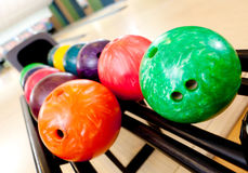 Colorful bowling balls Stock Image