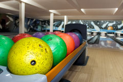 Bowling balls Royalty Free Stock Images