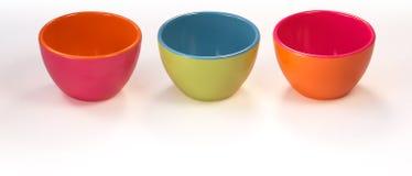 Colorful bowls Royalty Free Stock Photos