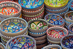 Colorful bowls zoom in. Beautiful colorful bowls for every occasion Royalty Free Stock Photo