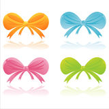 Colorful bows Royalty Free Stock Images