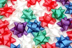 Colorful bows Royalty Free Stock Image