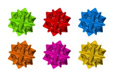 Colorful Bows Isolated Royalty Free Stock Images