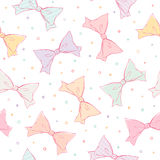 Colorful bows seamless pattern Stock Photos