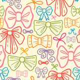 Colorful bows seamless pattern background Stock Images